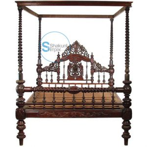 Antique Hand Carved Bed