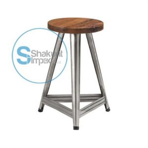 Aviation metal base bar stool