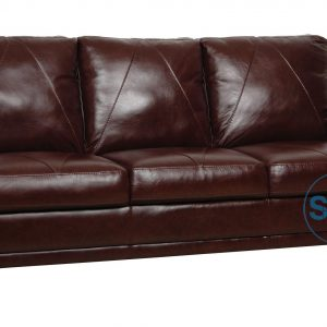 CLASSIC PRESS BACK LEATHER SOFA
